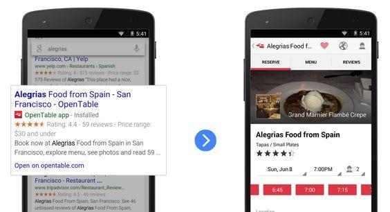 Indexação de aplicativo para Pesquisa Google — Google Developers