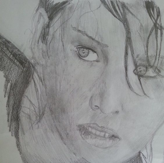 Jennifer Lawrence drawing (Katniss everdeen)
