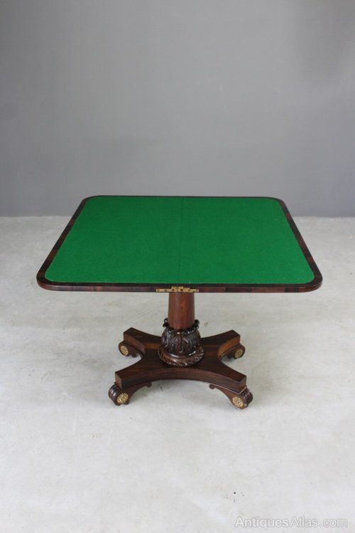 Antique Victorian Rosewood Card Table Antiques Atlas Table Table Cards Card Game Table