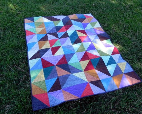 Simply Solids, Handmade Patchwork Quilt. $300.00, via Etsy.