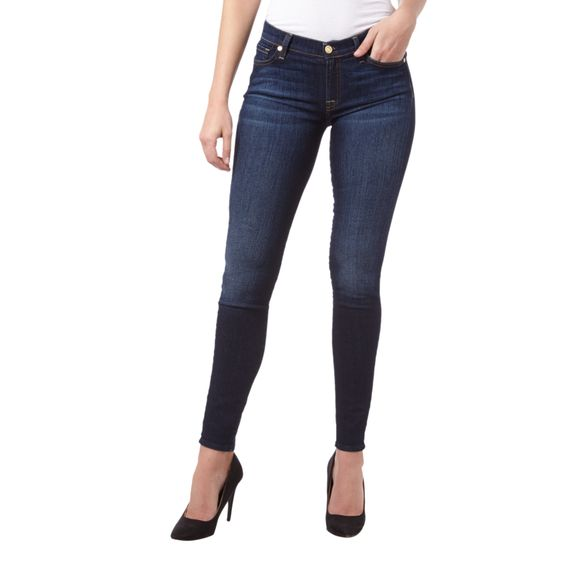 | 7 for #all #mankind #Skinny #Fit #Rinsed #Washed #5-Pocket-Jeans #für #Damen