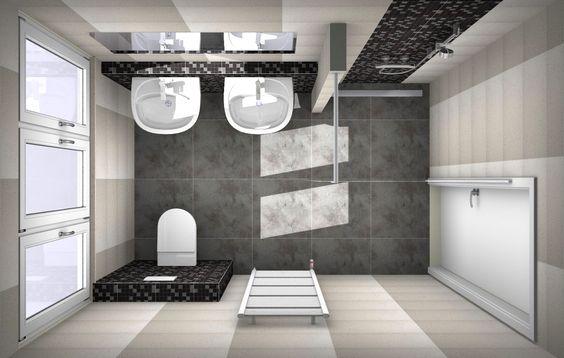 Badkamer ontwerpen bij van wanrooij ook je eigen badkamer ontwerpen gebruik gratis ons - Toilet ontwerp deco ...