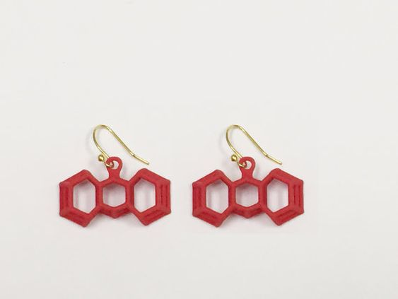 3D Printed Extremely Grateful Earrings by bondswell3D by bondswell