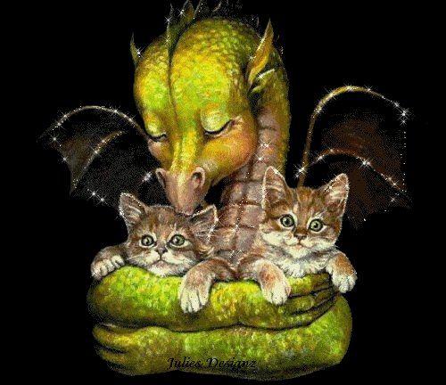 Dragon's pet kitties