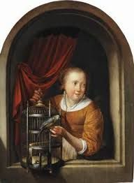 Image result for Dou Young Woman Playing a Clavichord Gerrit Dou