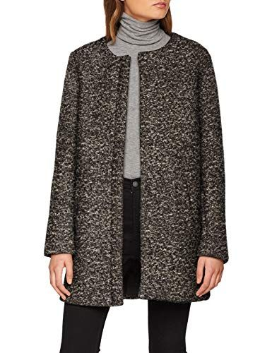 Only Damen Mantel Onlsidney Boucle Wool Coat Cc Otw Grau Dark Grey Melange 42 Herstellergrosse Xl Mantel