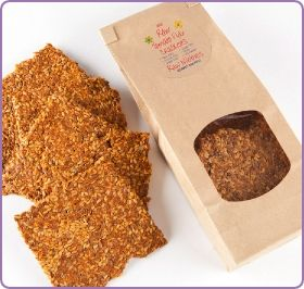 Crispy, seedy crackers from Raw Nibbles