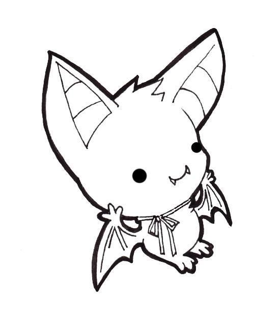 Gallery For gt Cute Bat Line Drawing