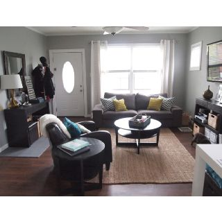 Love the layout but not the colors small living room for Small front room ideas