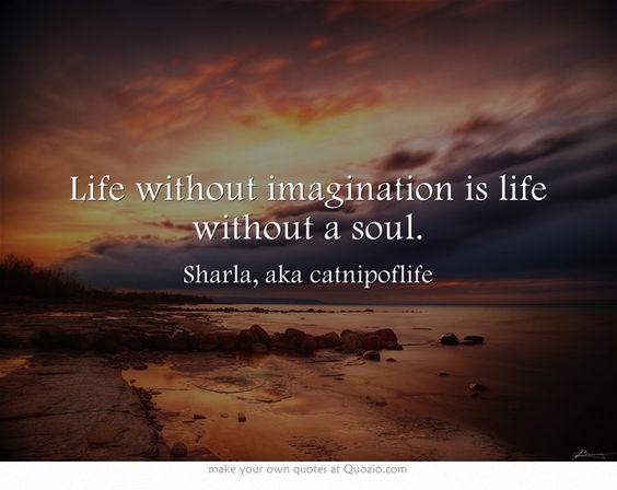 Life without imagination is life without a soul. ~Sharla, aka catnipoflife