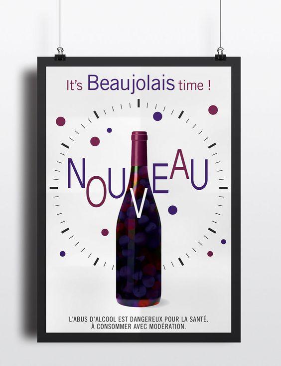 Affiche Beaujolais Nouveau