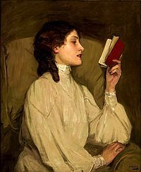 Painting of woman reading | Books in art.: