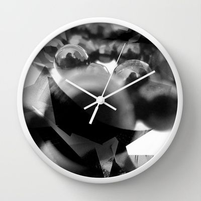 the black pearls folie Wall Clock by Valentina Iannazzone - $30.00