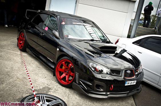2007 subaru sti red wheels | Cerchi COLORATI Subaru Impreza WRX STI