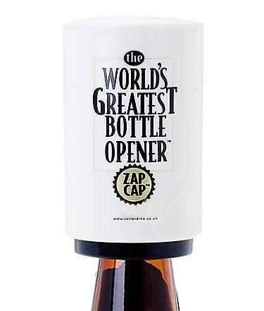 zap cap world 39 s greatest bottle opener 5037385000696 operates on all crown cap bottles magnet. Black Bedroom Furniture Sets. Home Design Ideas