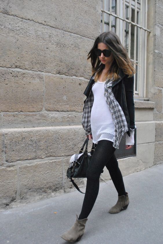 layers -- my go to pregnant casual: