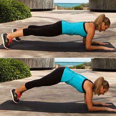 Are you bikini ready? Elbow Plank Pike Taps