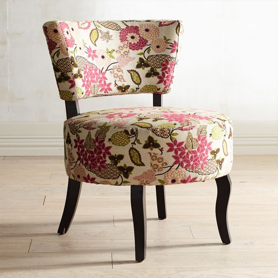 Pink Sabine Chair - Azalea - Hardwood