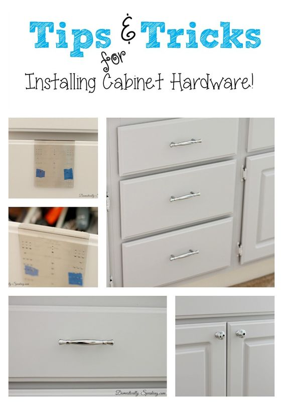 Installing cabinet hardware the easy way simple for Adding hardware to kitchen cabinets