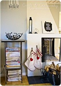 pretty fireplace with stockings   http://craftandcreativity.com/blog/2011/11/27/julhus/?utm_source=rss&utm_medium=rss&utm_campaign=julhus