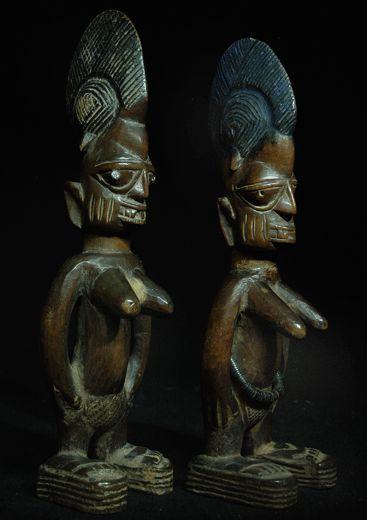 Yoruba Ere Ibeji (Twin Figure), Igbomina - Ajasse, Nigeria http://www.imodara.com/post/95212436244/nigeria-yoruba-ere-ibeji-twin-figure-igbomina