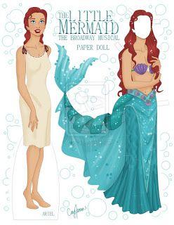 Bonecas de Papel: Ariel