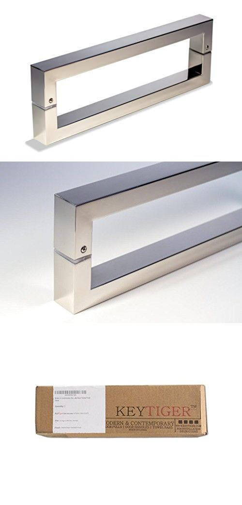 Modern Contemporary 8 Inches Square Rectangle Flat Shape Stainless Steel Door Handle Pull Shower Shower Door Handles Stainless Steel Door Handles Door Handles
