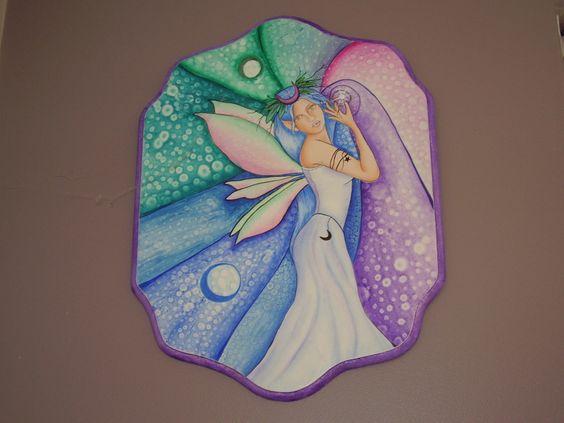 Folk Art Fairy...my love of fairies continues.