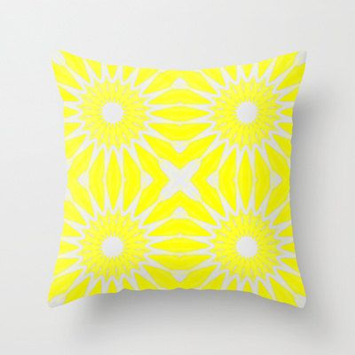 Pillow Cover Throw Pillow Yellow Pillow by 2sweet4wordsDesigns, $35.00