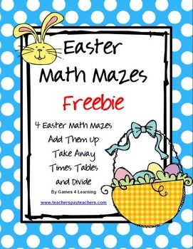 math worksheet : freebie  easter math mazes from games 4 learning these easter  : Math Their Way Worksheets