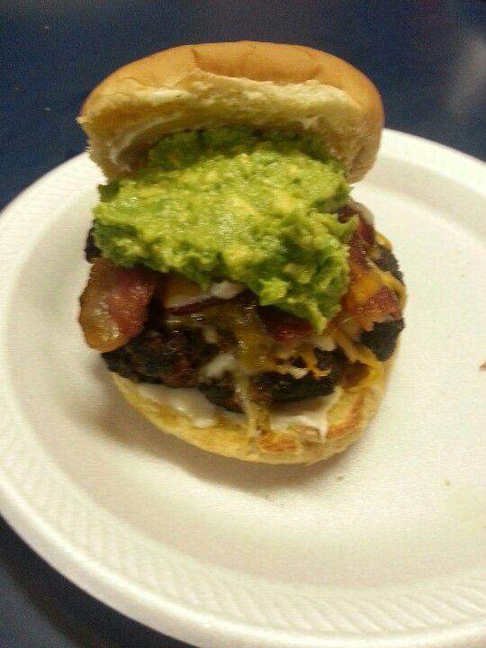 Bacon Cheeseburger with guacamole!!!
