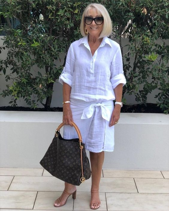 "ThisWithThis on Instagram: ""This gorgeous white Linen Shirt Dress done with a Twist as only @lisabrowndesigns can do. Also featuring a roll up sleeve, perfect for this…"""