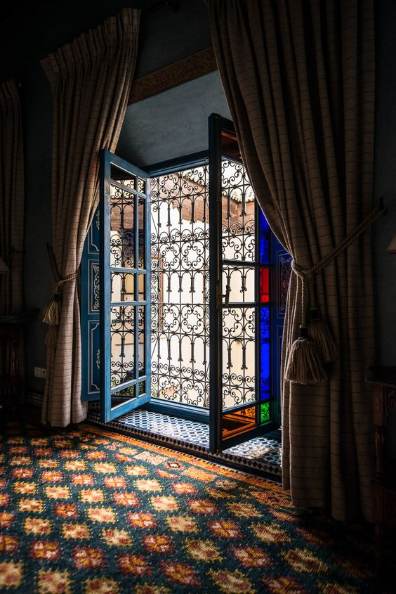 From one of the suites in Riyad Al Moussika in Marrakech