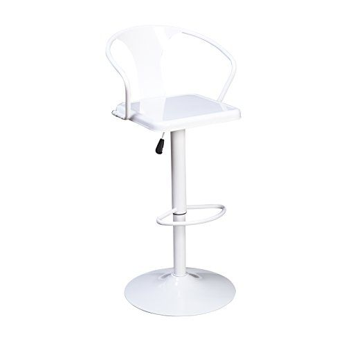 Target Marketing Systems Max Industrial Metal Adjustable Swivel Bar Stool With Arms Gas Lift And Foot Swivel Bar Stools Minimalist Kitchen Bar Stools
