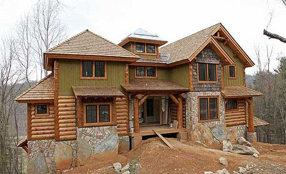 Plan 18718ck Lodge Home Plan With Second Floor Bridge