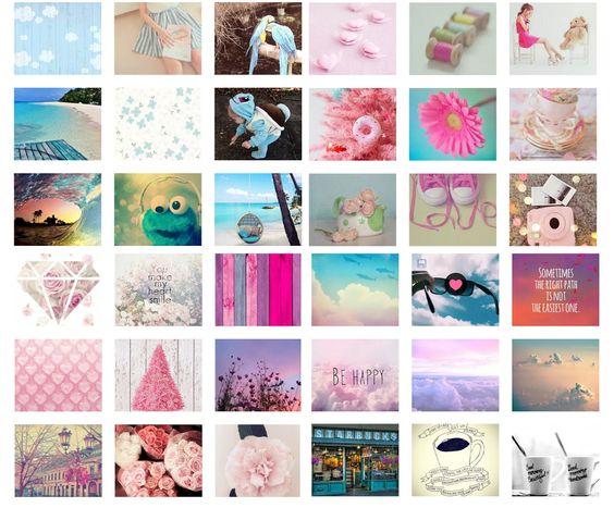 ピンクとブルーの組合わせ画像の壁紙