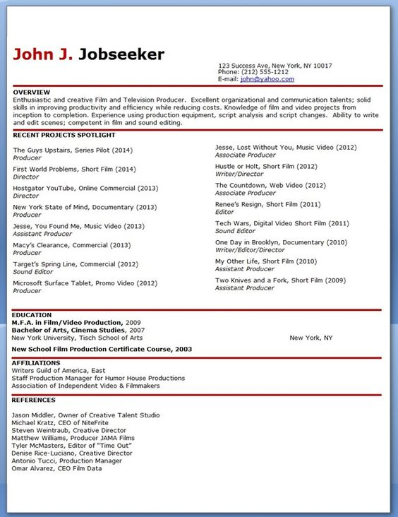 Sample Resume Production Operator
