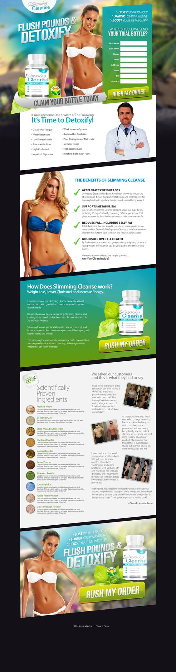 Slimming Cleanse on Behance