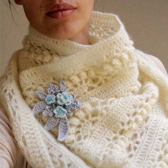 "Crochet White Mohair Oversized Cowl ""Iris"" - PDF PATTERN. $4.50, via Etsy.  this is STUNNING!!!!"