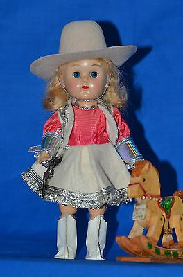 "Vintage 8"" Vogue Ginny Doll Tagged Outfit & Rocking Horse"