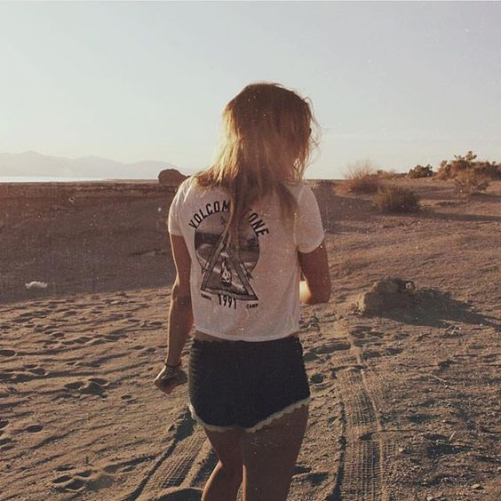 Wild thing @nicolekayclark is 🔥 in our Summer of 91 Ringer Tee #VolcomBabes #SaltandSand