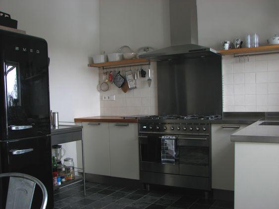 Keuken met de hoogglans SMEG koelkast en oven    Our home    Ons Huis   Pinterest   Ovens and Met