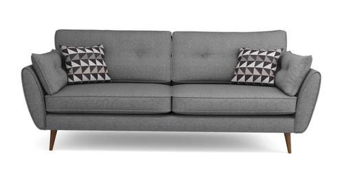 Zinc 4 Seater Sofa Zinc   DFS