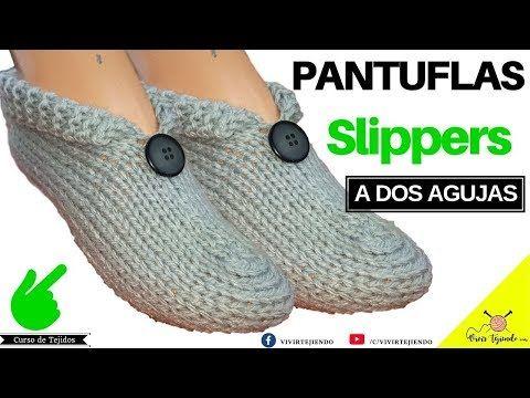 10 Tejiendo Pantuflas Slippers A Dos Agujas Tejidos A Dos Palitos Youtube Zapatos De Ganchillo Zapatillas De Ganchillo Zapatos Tejidos A Gancho