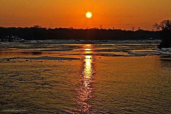 Sunset on water