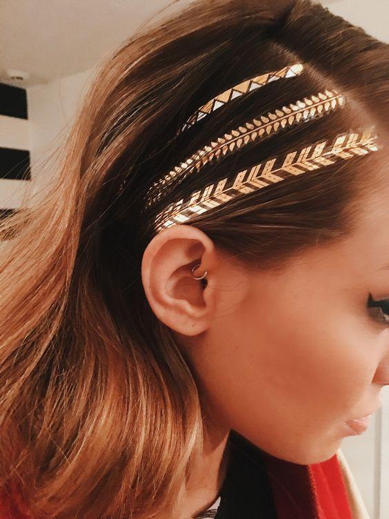 Geçici Saç Dövmeleri- Temporary Hair Tattoos – New Obsessions – Saç Aksesuarları, Geçici Dövme, Flash Tattoos, Takı – Trend Aksesuarların Adresi