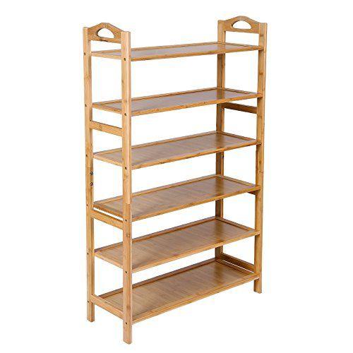 Songmics Bamboo 6 Tier Shoe Rack Entryway Shoe Shelf Stor Https Www Dp B0183icow2 Ref Cm Sw Wooden Shoe Racks Shoe Rack Entryway Wood Shoe Rack