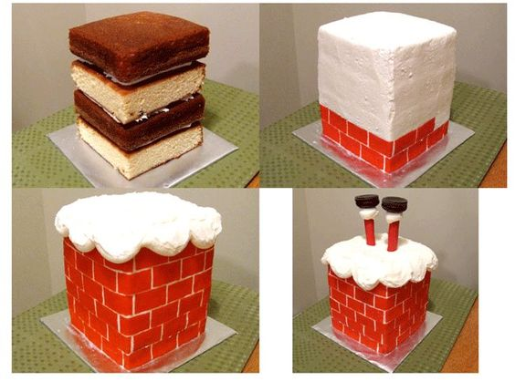 Natal cake and christmas on pinterest Santa stuck in chimney cake