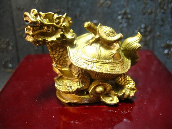 China Fengshui Brass Dragon Turtle Tortoise Wealth Lucky