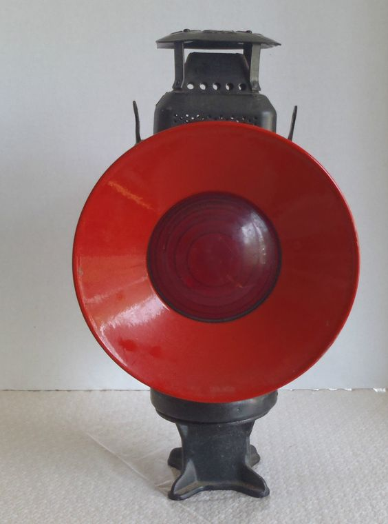 Vintage Railroad Switch Lamp Quot Adlake Non Sweating Lamp